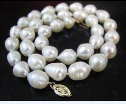 HOT 18 11-13MM AAA++ AKOYA WHITE BAROQUE PEARL NECKLACE HOT 18 11-13MM AAA++ AKOYA WHITE BAROQUE PEARL NECKLACE