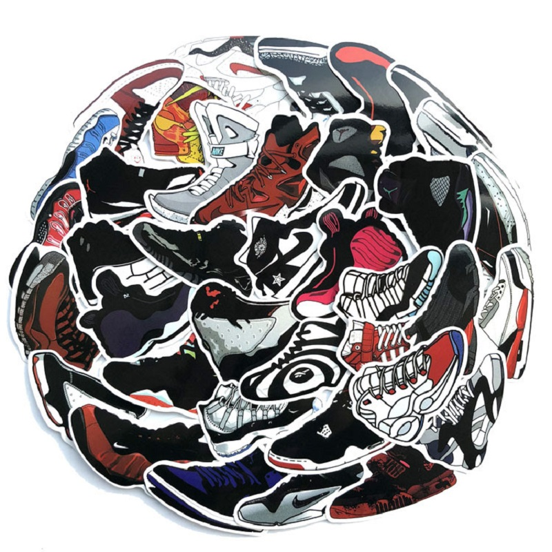 60PCS sports A J basketball sneakers suitcase suitcase laptop tide-brand personality stickers