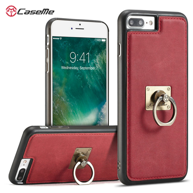For Iphone 7 7 Plus Case With Removeable Finger Ring Holder Case For