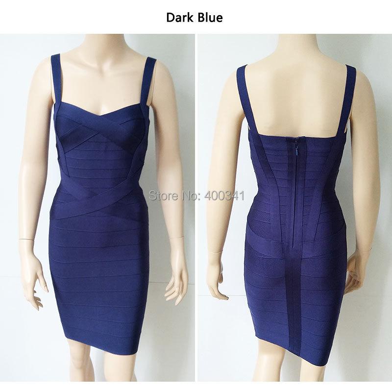 17 New Women Sexy Spaghetti Strap Rayon HL Elastic Celebrity Bandage Dress Bodycon Mini Club Party Dresses Drop Ship HL8675 28