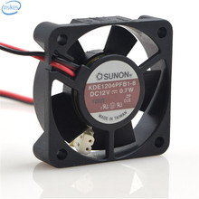 DHL Free Original KDE1204PFB1-8 DC 12V 0.7W 4020 40*40*20mm 7600RPM 2 Wires Computer Blower Double Ball Cooling Fan