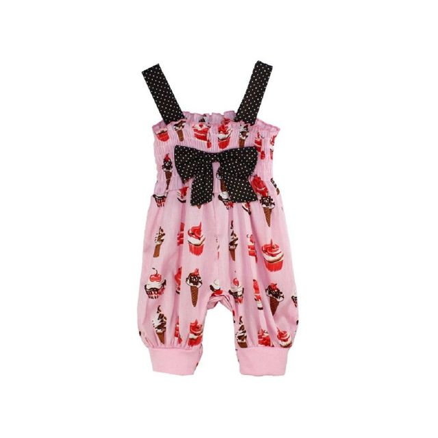 a29fc0b9f NEW Toddler Baby Girls Ice-Cream Pattern Pink Cute Strap Romper Jumpsuit  Summer Harem Pants Outfits Clothes