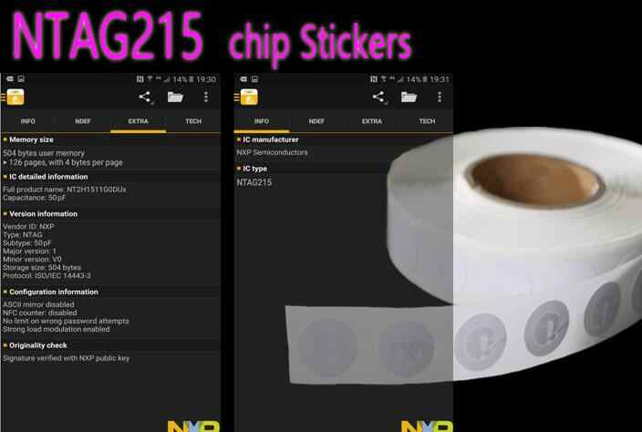 Detail Feedback Questions about 100pcs/Lot NTAG215 NFC Sticker All