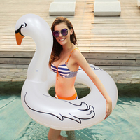 2019 Newest Transparent Swan Swimming Circle Inflatable Donut Swimming RingGiant Pool Float For Kids Adults Beach Sea Party Toys