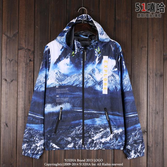 Vento O cenário é como uma imagem. casais vestido e casaco com capuz blusão retro Harajuku tingido 3D brisa