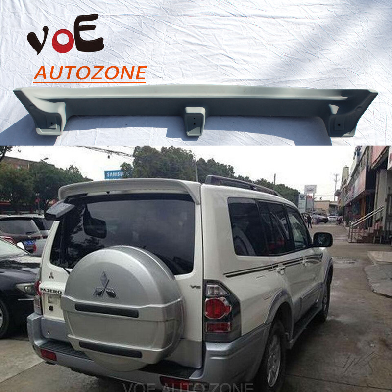 2007 2008 2009 2010 2011 2012 2013 2014 2015 Pajero ABS Plastic Primer Unpainted Rear Wing Spoiler for Mitsubishi Pajero car rear trunk security shield shade cargo cover for nissan qashqai 2008 2009 2010 2011 2012 2013 black beige