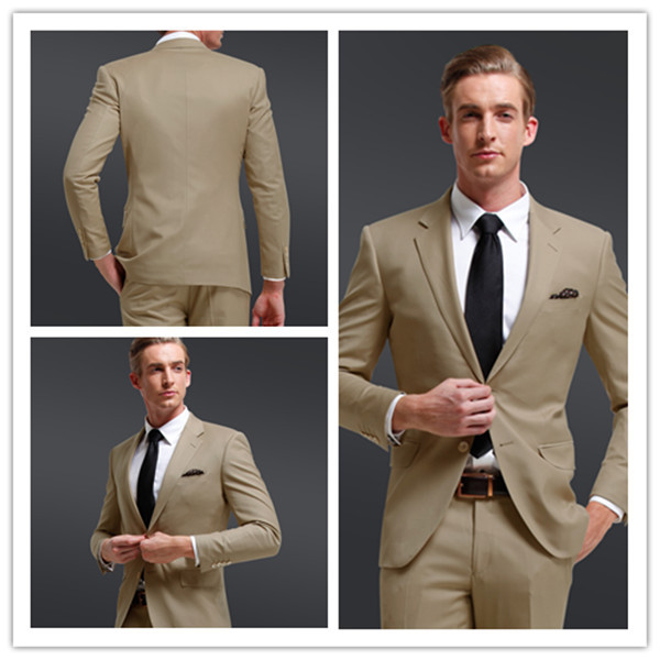 new style designer mens cream coloured formal groom dress suit wedding in suits from men 39 s. Black Bedroom Furniture Sets. Home Design Ideas