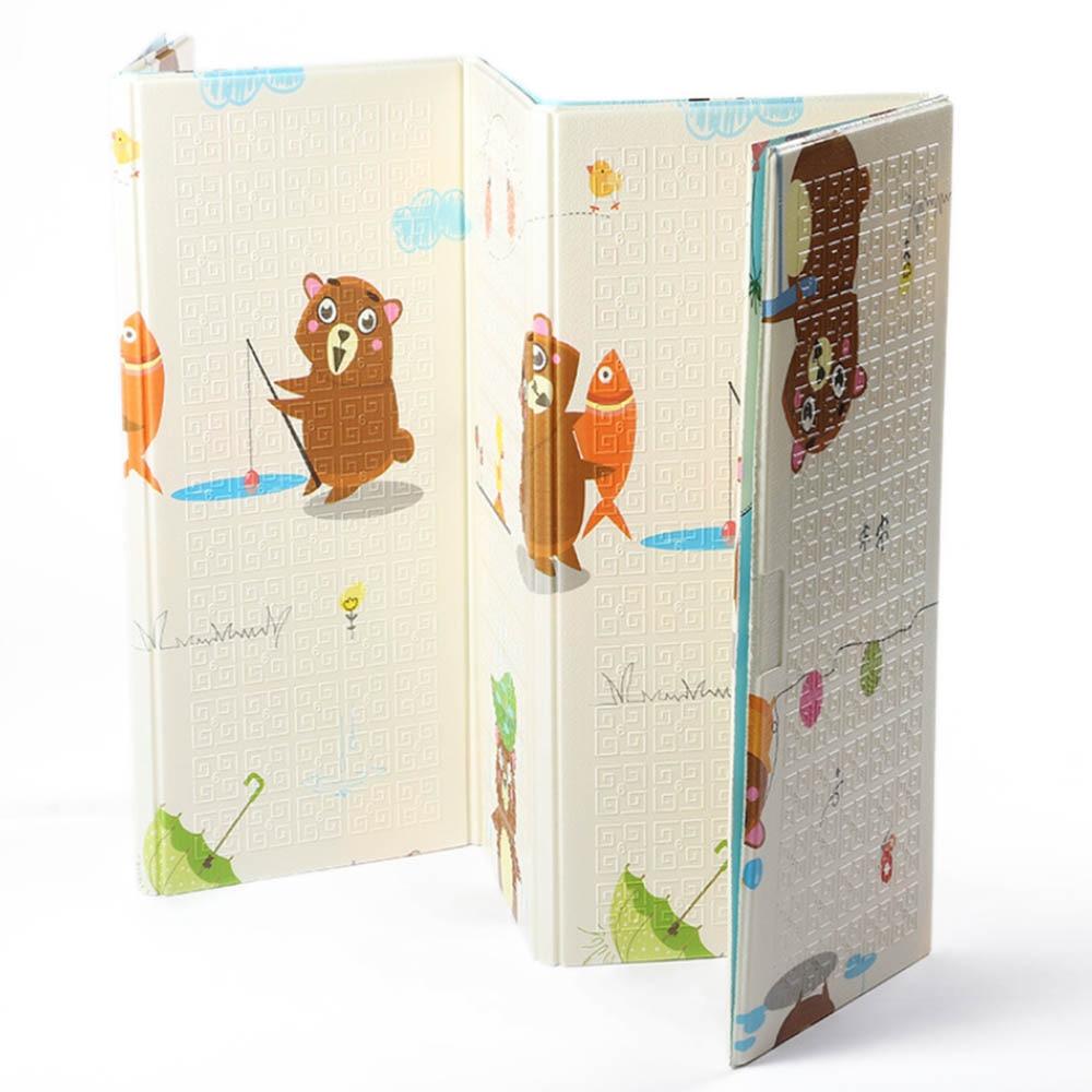 ★  180x200 СМ Двухсторонний складной Playmat Kid XPE Play Mat Игровой коврик для младенцев Ползучая цин ★