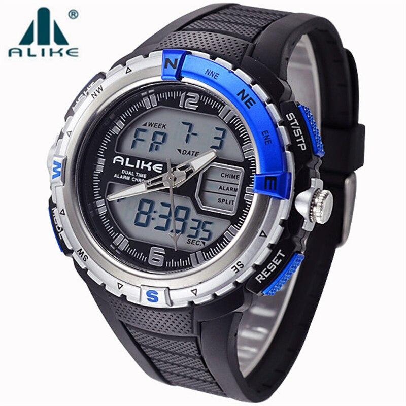 2017 Brand ALIKE Casual Sports Watch Men G Style Waterproof Military Watches Shock Men s Luxury