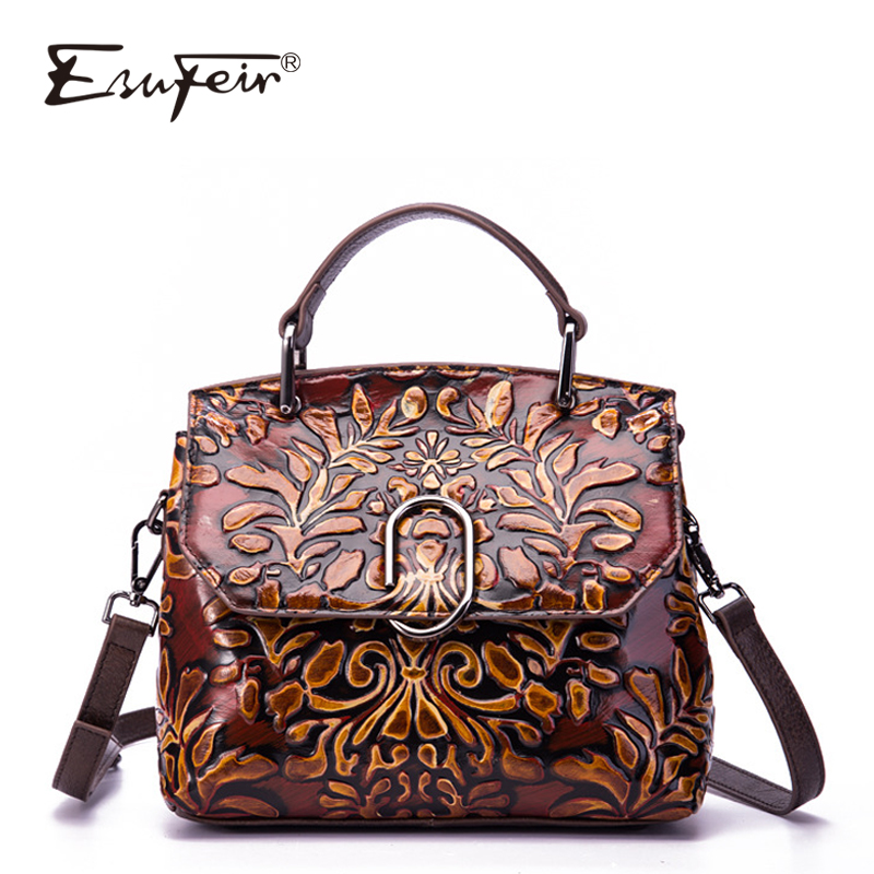 New Arrival ESUFEIR Genuine Leather Luxury Handbags Women Shoulder Bags Designer Vintage Messenger Bag Brand Women Crossbody BagNew Arrival ESUFEIR Genuine Leather Luxury Handbags Women Shoulder Bags Designer Vintage Messenger Bag Brand Women Crossbody Bag
