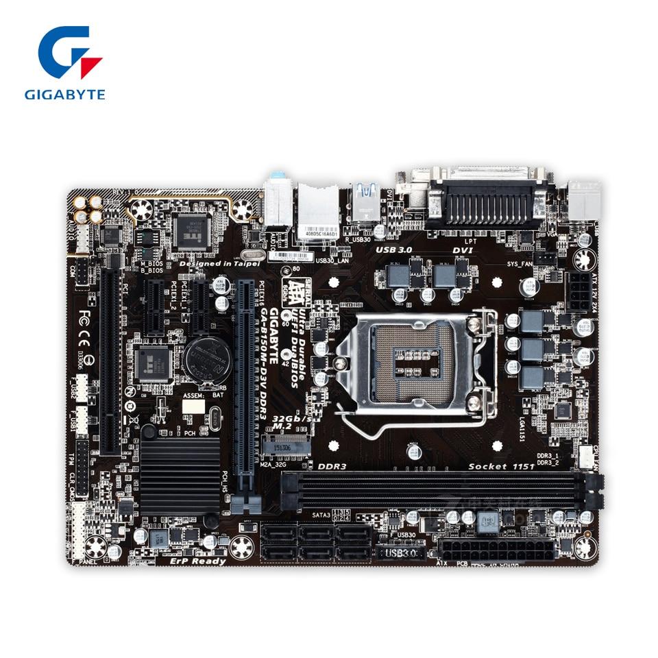 Gigabyte GA-B150M-D3V DDR3 Original New Desktop Motherboard B150M-D3V DDR3 B150 LGA 1151 i3 i5 i7 32G Micro-ATX
