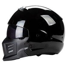 Зомби гоночный боевой шлем DOT одобренный Мото шлем со съемной маской дизайн красивый и безопасный открытый шлем