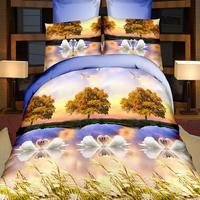 Sıcak Satış Elengant 3D Panda Gül Çiçek Yatak Seti Yatak Örtüsü Yorgan Yorgan Yastık Kılıfı Set Nevresim Tek/Çift