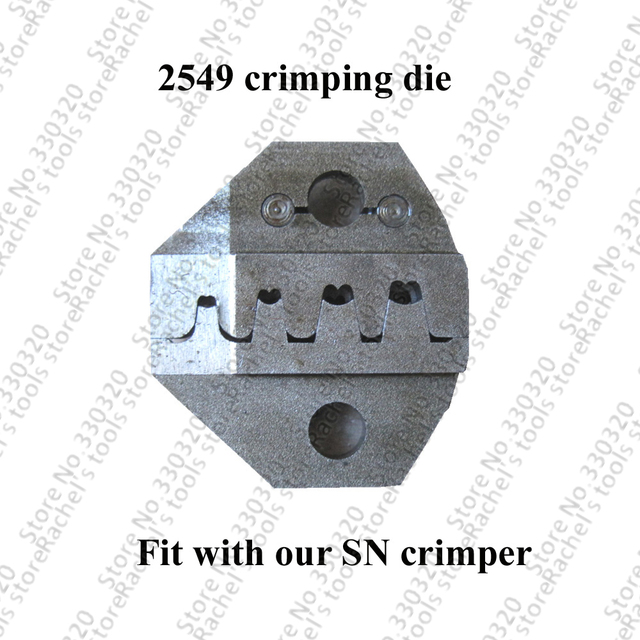2549 crimping die for SN pin crimping tool 2.54mm 3.96mm 28-18awg XH2.54 Dupont Terminals and connectors