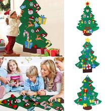 Door Wall Home Children Wall Felt Ornaments DIY Decoration Hanging Christmas Trees Children Toys Gifts