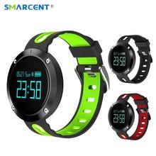 Smarcent T1 bluetooth сердечного ритма Смарт-браслет с Приборы для измерения артериального давления Мониторы Фитнес трекер спортивный браслет Relogio Смарт-часы
