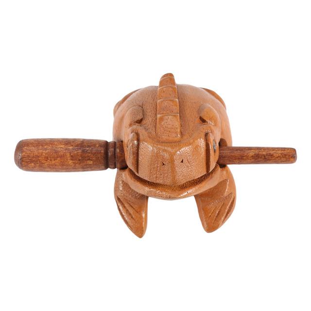 Wooden Feng Shui Frog Figurine