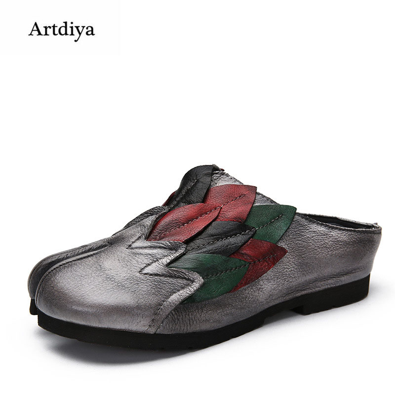 Artdiya Women's Shoes 2018 New Spring and Summer Leather Split Toe Women Sandals Handmade Retro Shoes 088-1 2016 spring and summer free shipping red new fashion design shoes african women print rt 3