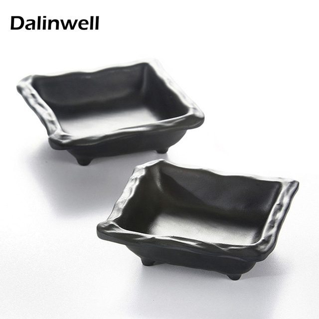 Mini Food Candy Dessert Dish Bowl Plate For Lunch Hard Plastic Melamine Square Small Tomato Mayonnaise Sauce Spice Container