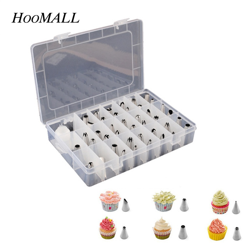 Hoomall 42Pcs Flower Pastry Tips Cake Decorating Tool Cream