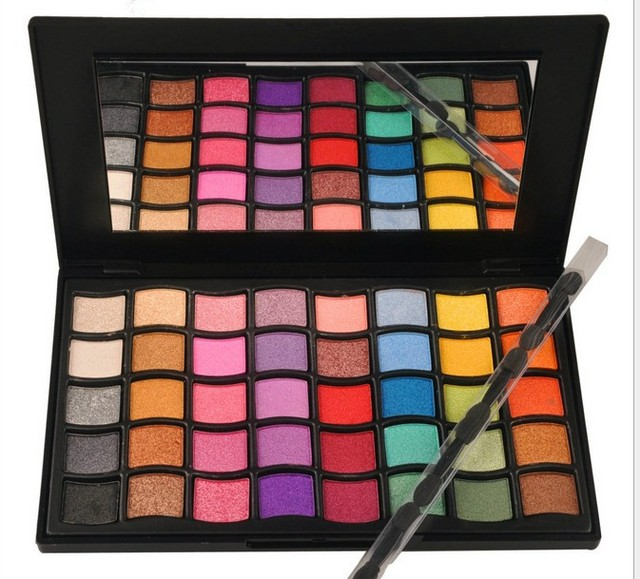 MS2840A Colour Makeup Supplies Eyeshadow Palette 40 Color 2 Series Of   Eye Shadow Box Shimmer Series Fine Powder  Easy To Apply