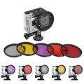 6-в-1 Камера Поляризационный Фильтр Адаптер 58 мм Комплект, Пригодный для Gopro Hero 3 Мини Видеокамеры Аксессуары