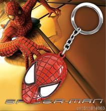 Hot Movie Marvel Super Hero Spiderman Mask Keychains Spider-Man Metal Keychain Pendant Key Chain Figure Action Toy 6cm