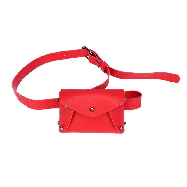 New Women Fanny Pack Mini Hasp PU Leather Travel Belt Chest Waist Packs 2018 Bolsas Girl Pouch Phone Bag