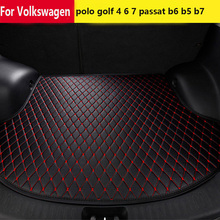 Shenlao for Volkswagen polo golf 4 6 7 custom car mat trunk for tiguan CC beetle passat b6 b5 b7 tail cargo liner trunk mats [kokololee] custom car trunk mat for volkswagen 4 5 6 7 vw passat b5 b6 b7 polo golf mk4 tiguan auto accessories car styling