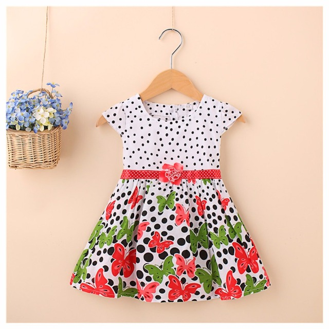 2be2bcc83e38 Little Girls Dresses Cute Baby Girls Dress Butterfly Princess Casual ...