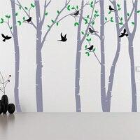 Березовое дерево стикер на стену гостиная лес съемные настенные наклейки стикер «дерево» виниловая настенная декорация Детская Наклейка н