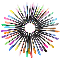 Colorful Gel Ink Pen Refills 36 48 Colors Rollerball Refill Pens Pastel Neon Glitter Sketch Drawing
