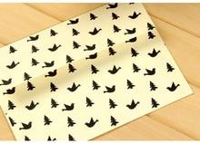 5Pcs/Lot 17.5x12.5cm Cartoon Bird Set 120g Japanese White Kraft Paper Cute Envelope Bag Invoice Office Supply
