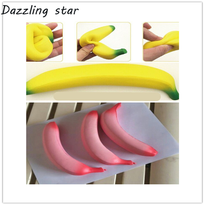 2019 New 18cm Cartoon Banana Toys Squeeze Antistress Toy Pop Doll Novelty Stress Relief Venting Joking Decompression Funny Toys