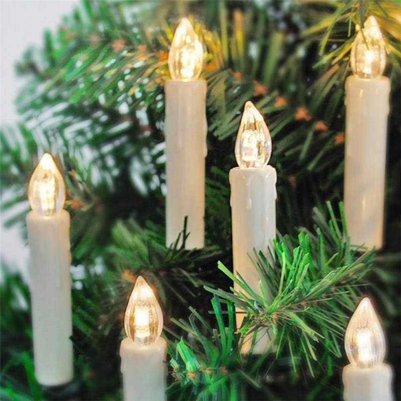 10 Pcs/set Christmas Led Candles Color changing On Christmas Tree Led  Simulation Candle Light with Remote & Clips 7 Colors -in Candles from Home  & Garden on ... - 10 Pcs/set Christmas Led Candles Color Changing On Christmas Tree