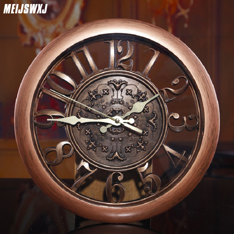 3D Wall Clock Saat Clock Reloj De Pared Duvar Saati Vintage Digital - Home Decor