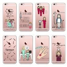 Cute Spain Cartoon Medicine Nurse Doctor Dentist Hard PC Phone Case Coque Fundas For iPhone X10 MAX XR 6 6S 7 8 8Plus 5S SE 5
