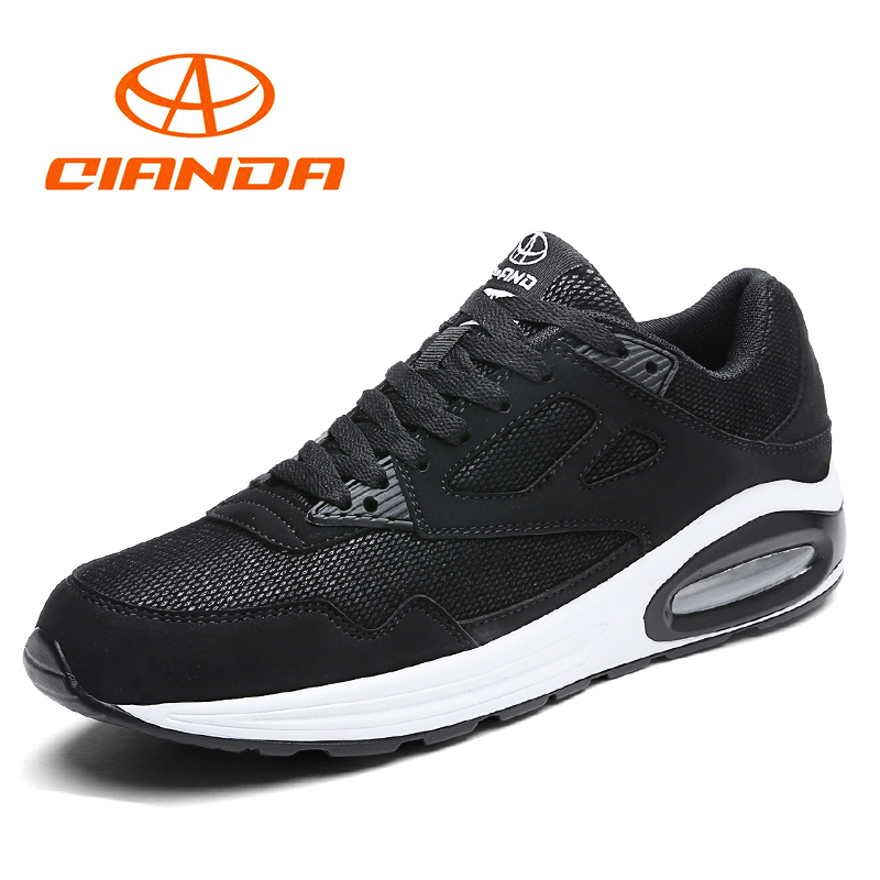 QIANDA Cushioning Breathable AIR Running Shoes For Men Spring/Autumn Lace Up Sport Walking Man Sneakers Classic Jogging Shoes