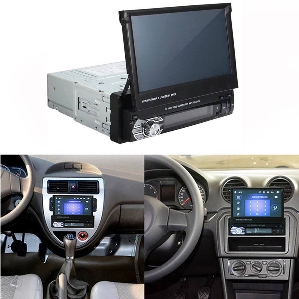 """Image 2 - Podofo 7"""" Android Mirror Link Car Radio MP5 Player Bluetooth GPS DVD AUX IN /FM Autoradio Multimedia For Universal Audio stereo-in Car Radios from Automobiles & Motorcycles"""