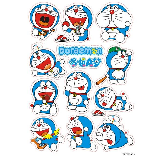 12 pcs/lot Doraemon pokonyan decal stiker Tahan Air PVC