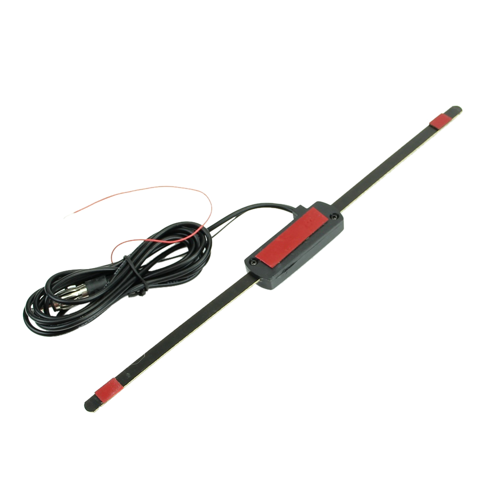 Car Auto Windshield Electronic Mount Self Adhesive Base TV FM Radio Antenna 12V