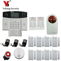 YoBang Security 433MHZ Home Remote Control LCD Display Wireless GSM Alarm System Keyboard English Ltialian Voice Alert Sensor .