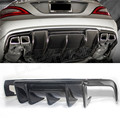For Mercedes - Benz CLS Class W218 CLS63 AMG Carbon Fiber Rear Trunk Diffuser R Style 2011 2012 2013 2014 2015 - on