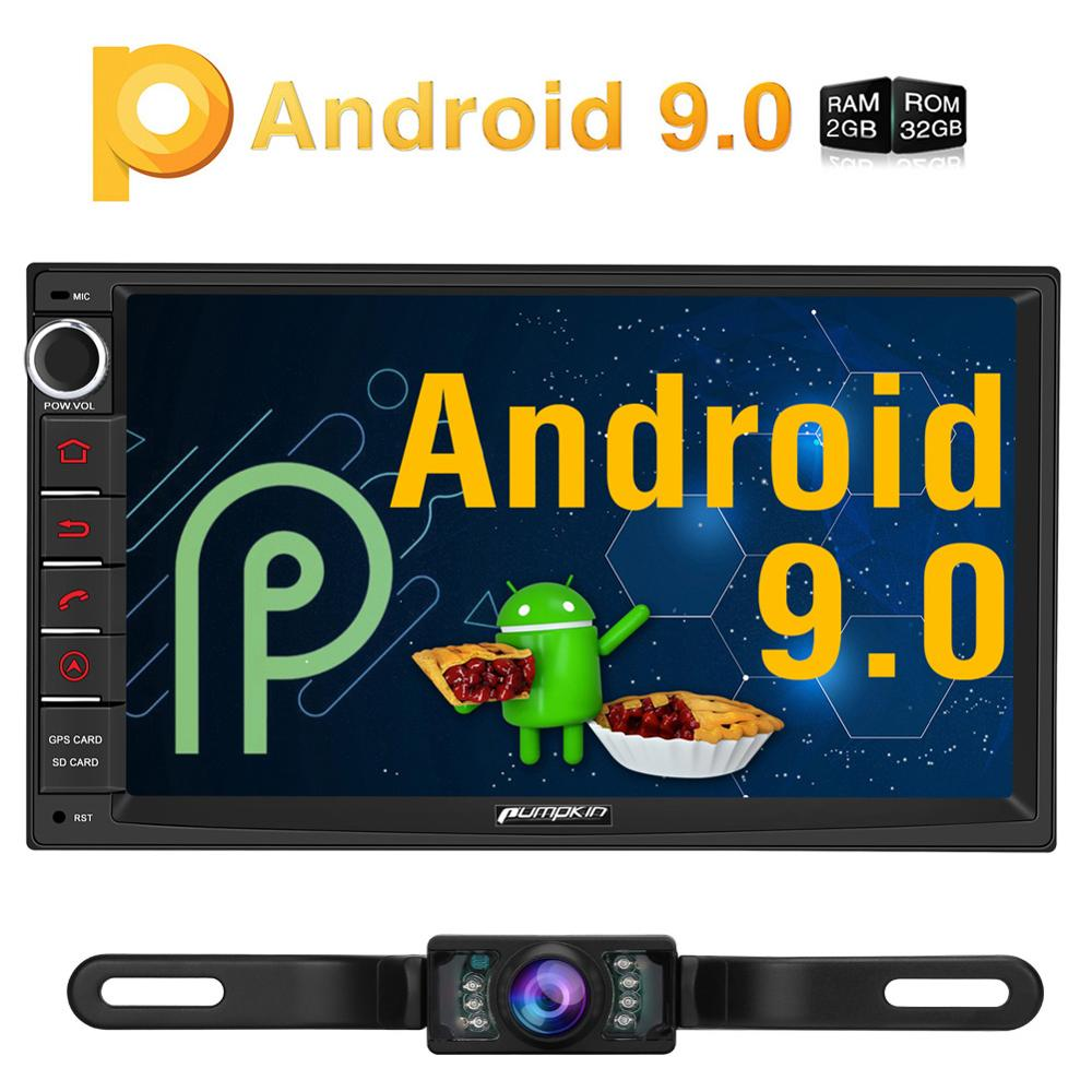 Pumpkin 2 Din 7 Universal Android 9 0 GPS Car Radio Audio Player NO DVD Quad