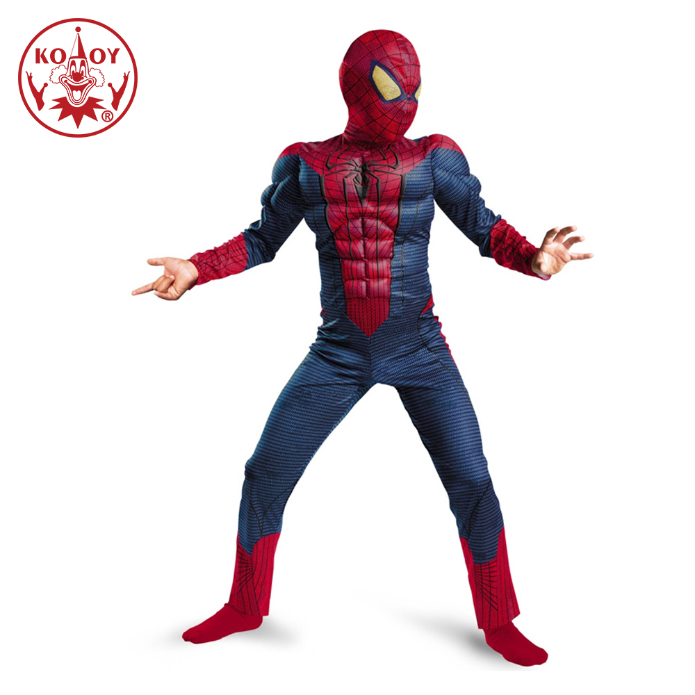 Spiderman Costume Deluxe Muscle Kids Superhero Cosplay Jumpsuit Avengers Costume Halloween Child Cosplay Purim Carnival Costumes