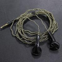 DIY EMX500 In Ear Earphones Flat Head Plug Earphone HiFi Bass Earbuds DJ Earbuds Heavy Bass