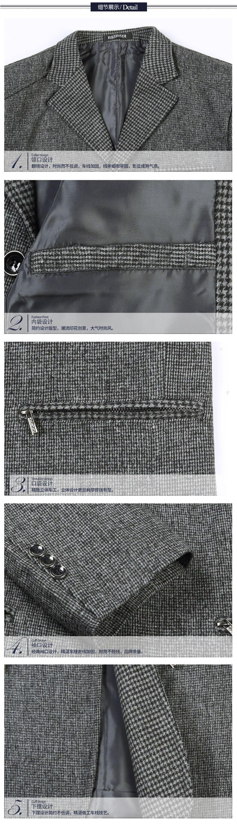 WAEOLSA Men Smart Casual Blazers Man Gray Suit Jacket Blend Outfits Male Plain Color Blazer Mens Elegance Suit Coats Leisure Wear (1)