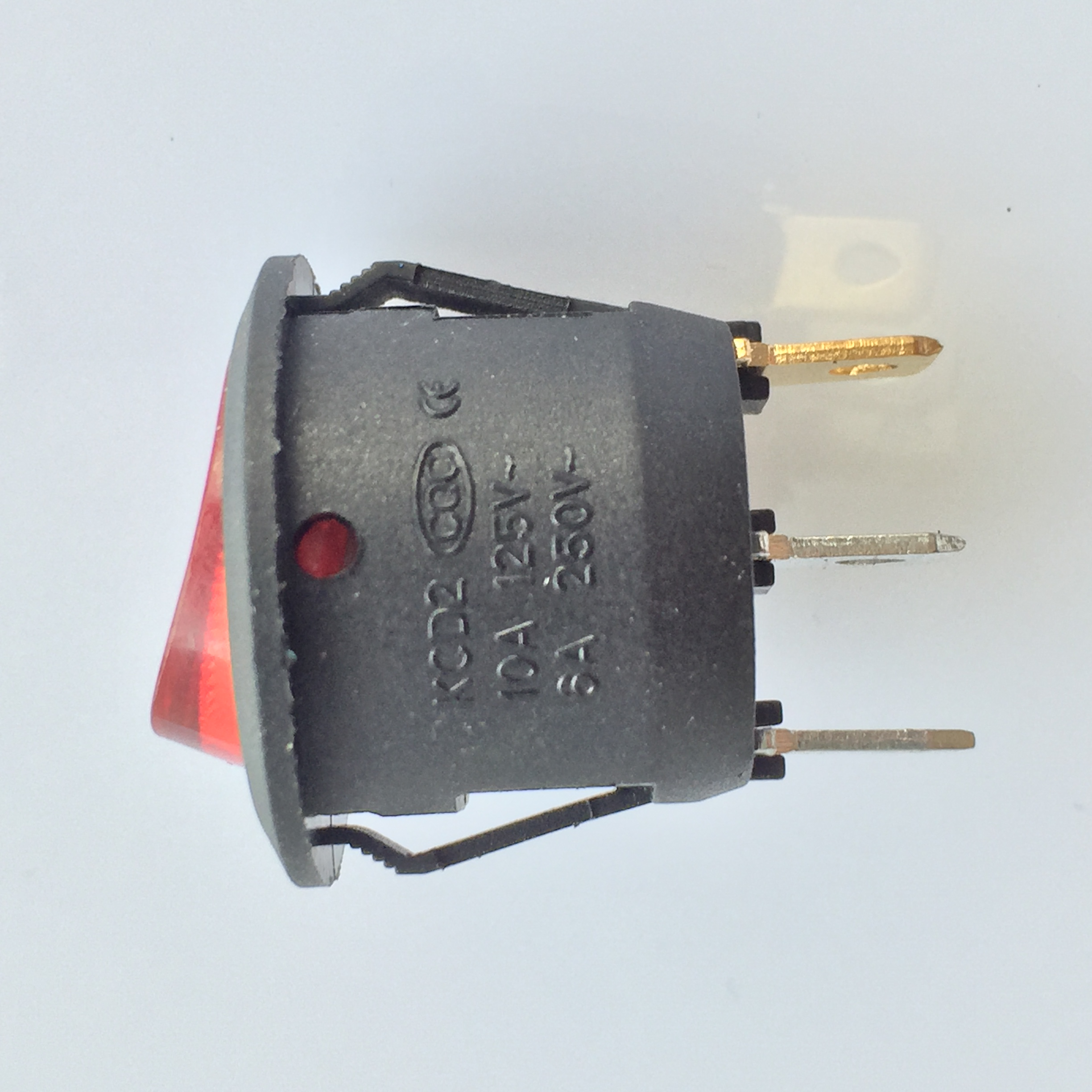 1pc J196Y Red Round Toggle Switch with Light on it Two Files Three ...