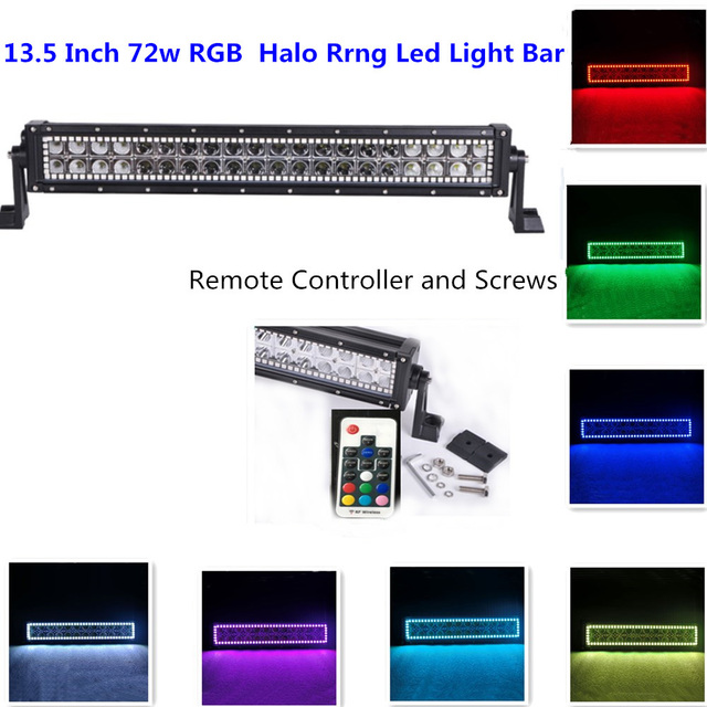 72w 10 12 creeled light bar with rf remote controller rgb halo 72w 10 12 creeled light bar with rf remote controller rgb halo ring mozeypictures Image collections