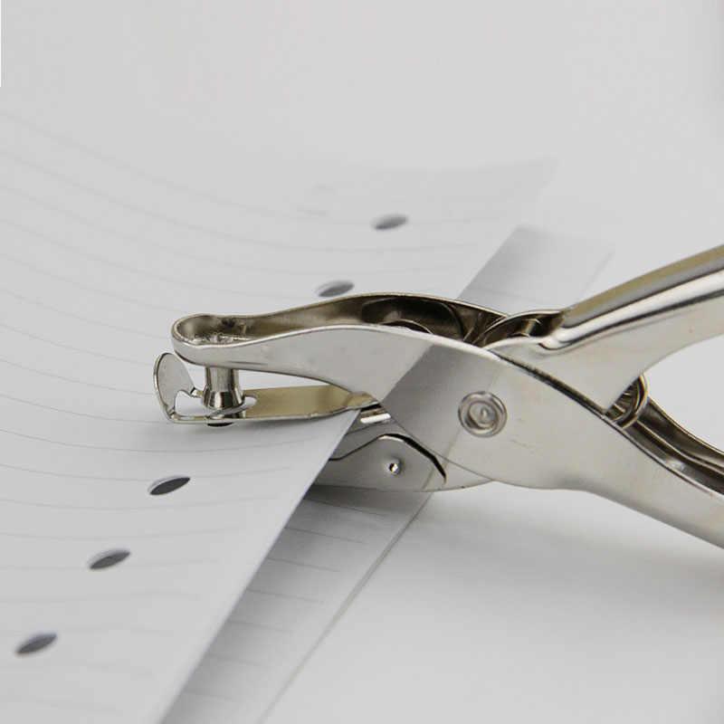 1PC Handheld Metal Furador Único Furo Scrapbooking Socos Pode-se Fazer 8 Páginas Todos Os Materiais De Metal fácil de uso